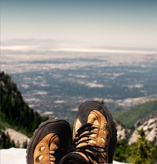 Enjoying the View (Nelson Vargas Photography) Tags: mountain outdoors utah nikon shoes hiking pointofview saltlakecity topoftheworld merrell d90 nikonpassion bellscanyontrail