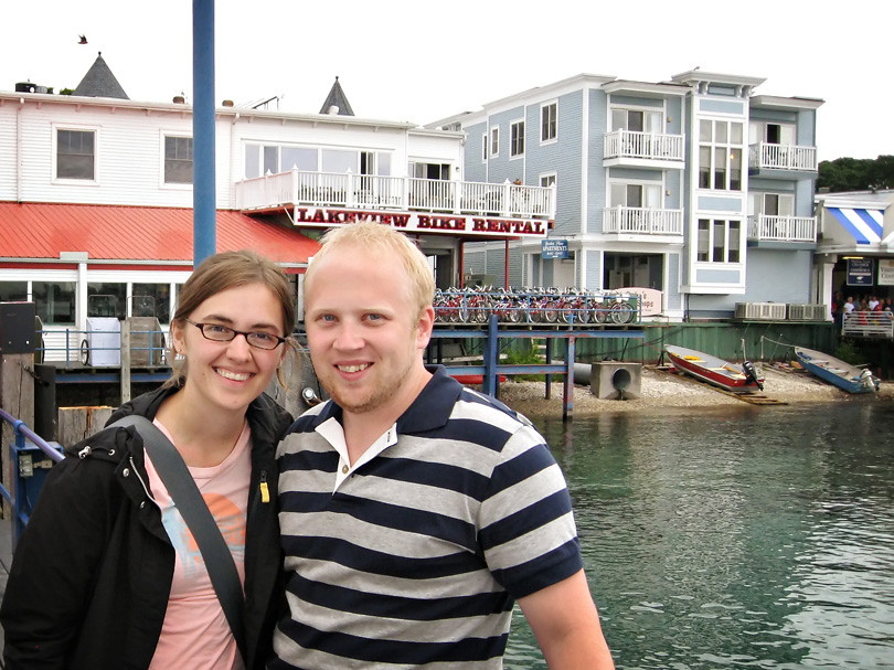 Patrick and I at Mackinac Island