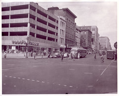 11th Street, NW, (DDOTDC) Tags: bus northwest streetlights garage 1957 historical 11thstreet fstreet