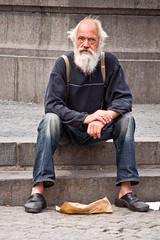 Watching Life (Hanjosan) Tags: street people man copenhagen beard nikon candid d40x