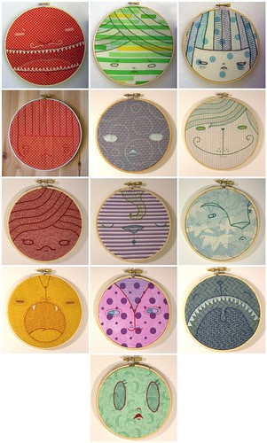 Cate Anevski Face Embroideries