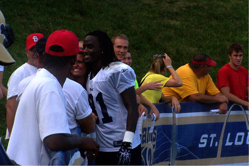 Mardy Gilyard greets the fans