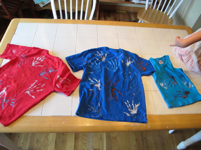 Firework shirts all done