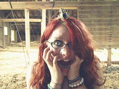ATTAAAACK!!!! (bellydnce1103) Tags: selfportrait silly abandoned girl goofy barn skull illinois bones rockford