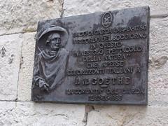 Photo of Johann Wolfgang von Goethe bronze plaque