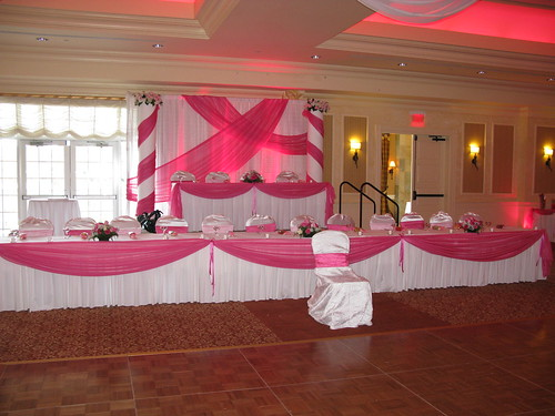 Head Table Decorations and backdrop for a Quinceanera at Devens ...
