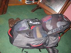 Full backpack for RTW travel