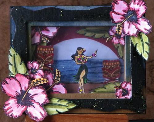 Aloha Stamped Shadowbox 1