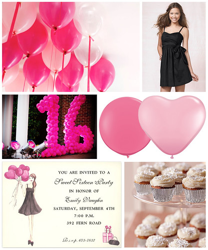 Pink Balloon Sweet 16