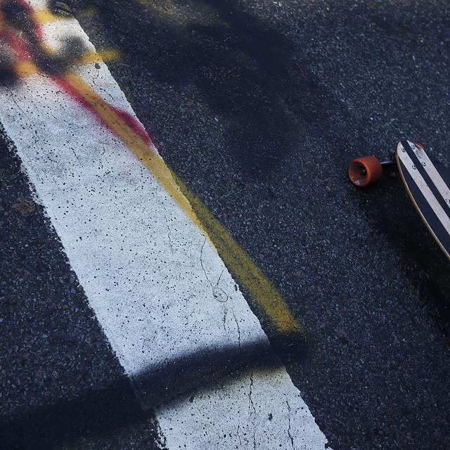 skateboard & lines in parallel #walkingtoworktoday