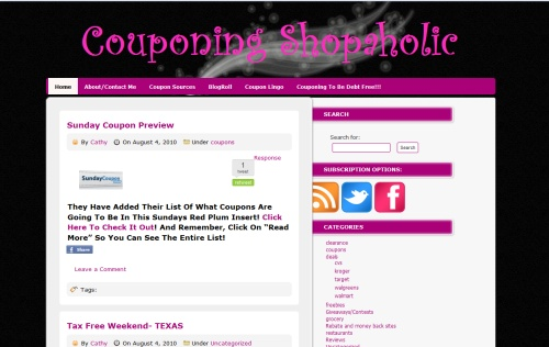 Couponing Shopaholic blog