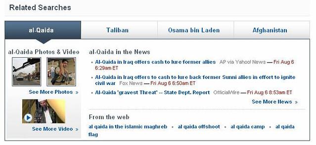 Yahoo! Search news module