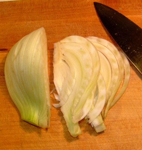 fennel sliced