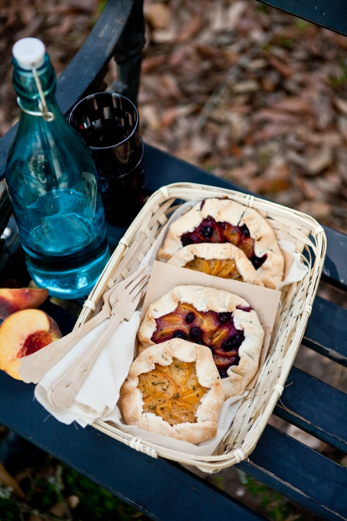 Peach Blueberry Galettes