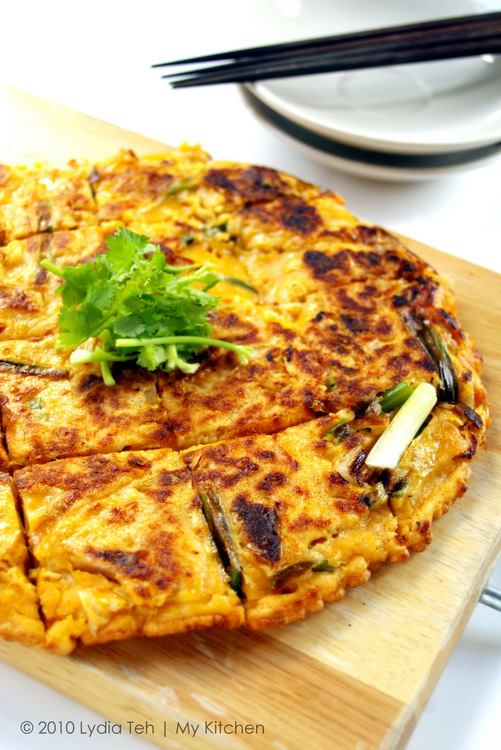 how to cook kimchi pancake