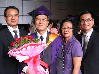 Dad graduated