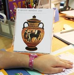 ancient greek amphora art calendar