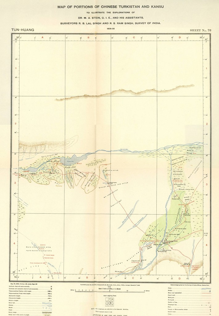 Vol. 5, Maps, Sheet no. 78: Tun-Huang (Dunhuang)