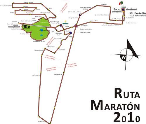 Ruta Maratón de la Ciudad de México 2010