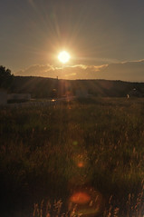 Sun Setting over Pine Valley, Utah (John Petrick) Tags: sunset sun mountains field night clouds clear sly sunsetting sunflare settingsun pinevalley d90 sunflares 18200mmvr pinevalleyut pinevalleyutah sunsettingoverpinevalleyutah