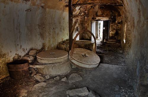 Interior molino de la pasada de cantos