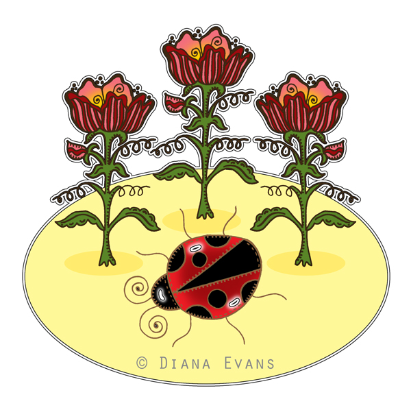 lady bug garden-blog