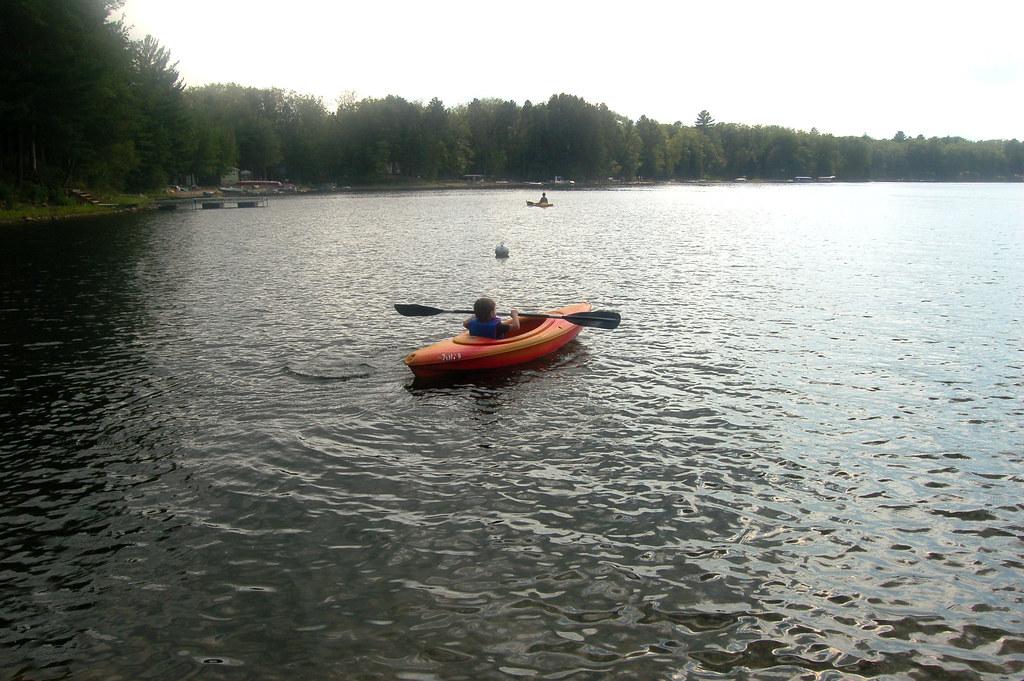 zeek's first kayaking