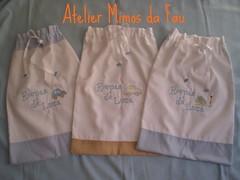 Saquinhos Roupas de Luca (Atelier Mimos da Fau) Tags: bebe tecido roupas bordado saquinhos