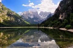 Lago di Landro e Grupp del Cristallo (our cultural archive) Tags: italy lake mountains reflections landscape superstar reflexions cate südtirol southtyrol gmt copenhaver natureselegantshots mirrorser superstarthebest lagodilandroegruppdelcristallodolomites