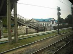 Baranovichi Centralnye train station (Timon91) Tags: station train railway belarus baranovichi trainamsterdammoscow