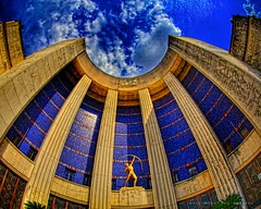 Dallas, TX - Fair Park - Hall of State (3) (Matt Pasant) Tags: park hot canon eos dallas big texas d mark tx sigma sunny fair el icon fisheye ii 5d dfw 15mm f28 grounds dg 540 velbon carmagne promotecontrol