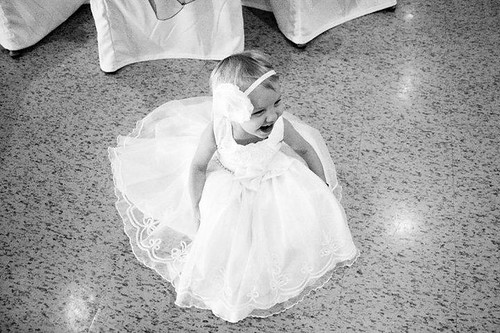 B&W Zoey at wedding