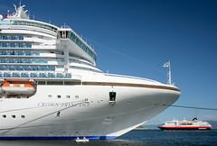 Crown Princess (Helena Normark - Away) Tags: norway norge cruiseship 5d trondheim sørtrøndelag hurtigruten munkholmen crownprincess canoneos5d 35l canonef35mmf14lusm