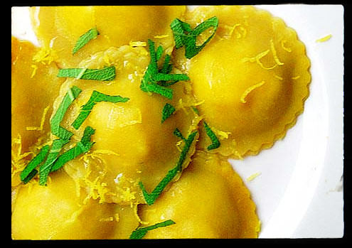 Goat's Cheese Ravioli
