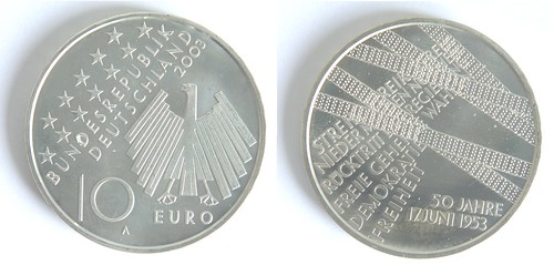10 Euros Alemania 2003