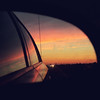 sunsets in side mirrors (Shandi-lee) Tags: sunset reflection car square mirror highway carmirror 500x500 dwcffsquare