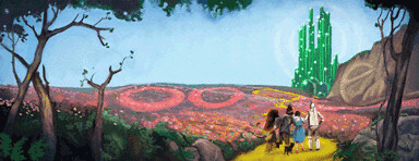 Google Logo 2010 The Wizard of Oz