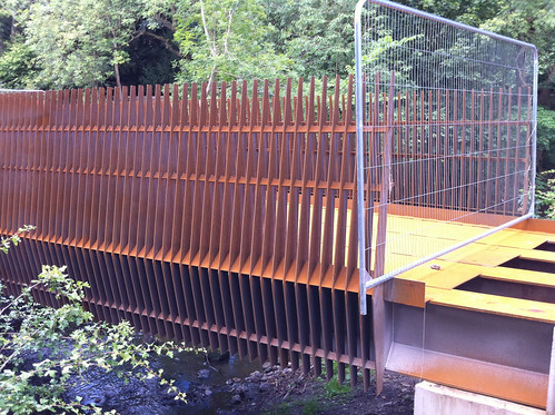 New Ouseburn Bridge, rusting as planned