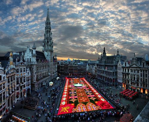 Brussels, Biggest in the world, carpet flowers 2010, Belgium
