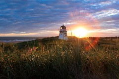 Stanhope Sunrise (Robert M Brown Photography aka Rob Brown Studios) Tags: ocean light sky lighthouse color colour water beauty clouds sunrise interesting scenery princeedwardisland skyatsunrise skyascanvas