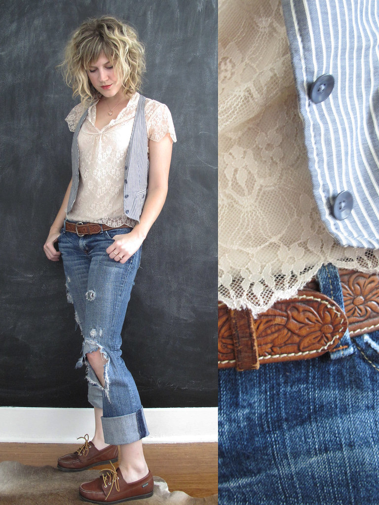 Anatomy of an outfit: Denim & Lace
