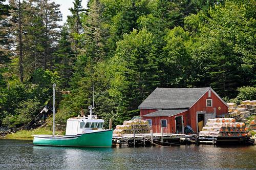 trees red canada green boat fishing nikon novascotia free easternshore lobster shack dennis jarvis traps marinedrive d300 iamcanadian portdufferin 18200vr 70300mmvr dennisjarvis archer10 dennisgjarvis