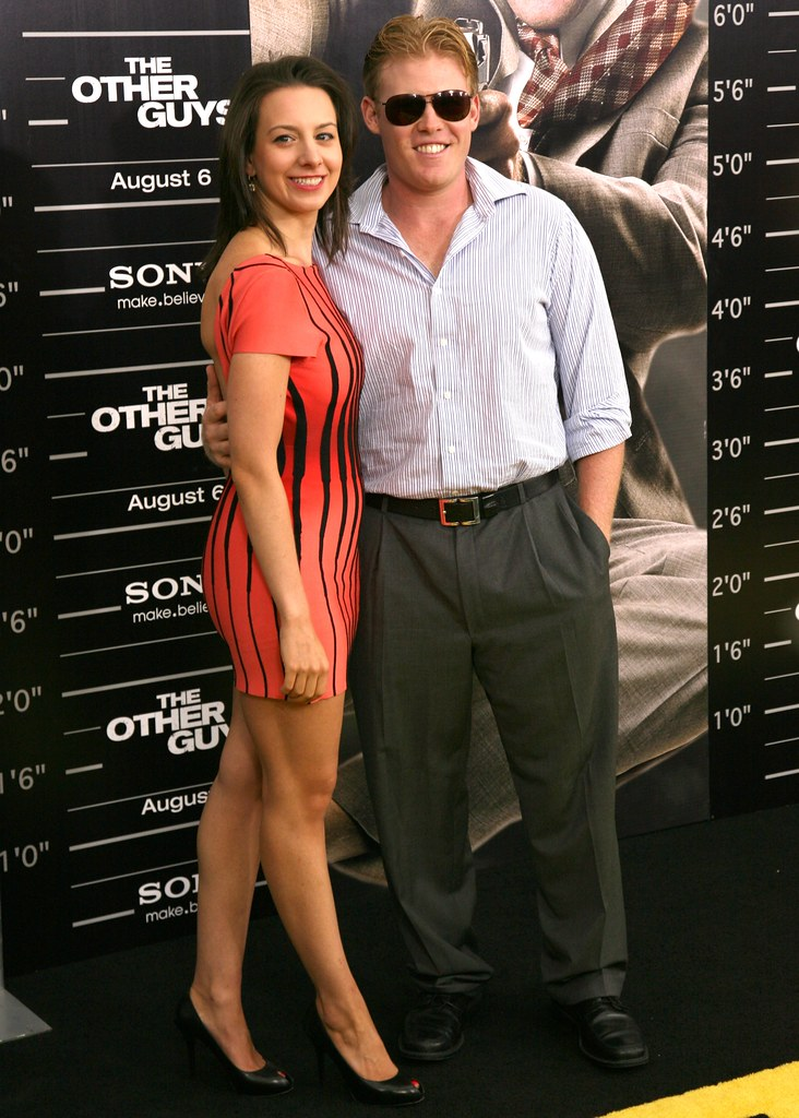 Sarah Hughes,Andrew Giuliani, The Other Guys Movie Premiere