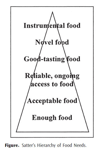 Satter's Hierarchy of Food Needs