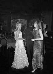 Catherine Deneuve and Francoise Dorleac (Famous Fashionistas (First)) Tags: party fashion club french evening dance feminine actress gown sainthilaire