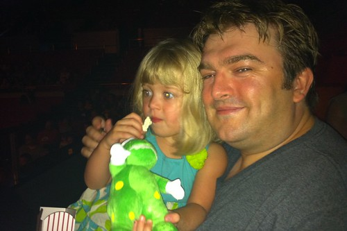 Catie & Dave at the Wiggles concert