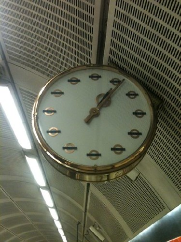 Bethnal Green Tube clock by JazCummins