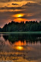 Sunset at Lake Joutsjärvi (Eero Happonen) Tags: sunset summer lake reflection clouds finland sysmä nikond300 afsnikkor1685mm13556ged eerohapponen lakejoustjärvi