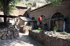 Cave dwelling in the village of Lijashan, China (sensaos) Tags: china old houses house yellow rock stone rural river asian li ancient asia village chinese cave shanxi ming dynasty azie dwelling azië cavedwelling qikou lijashan