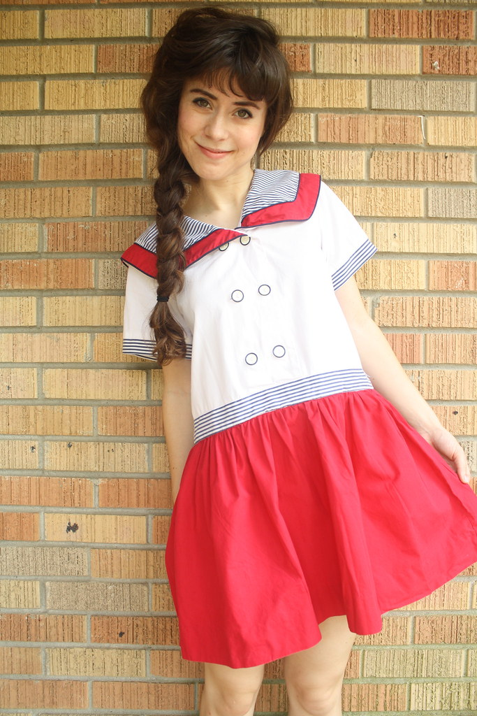 vintage striped sailor dress